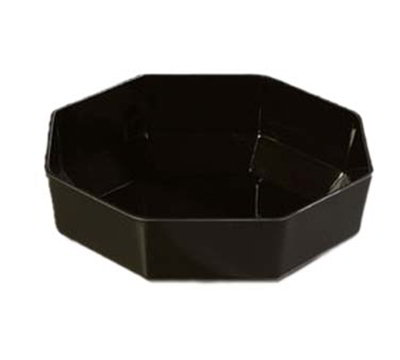 "Carlisle 888703 9-5/16"" Octagon Serving Bowl - Acrylic, Black"