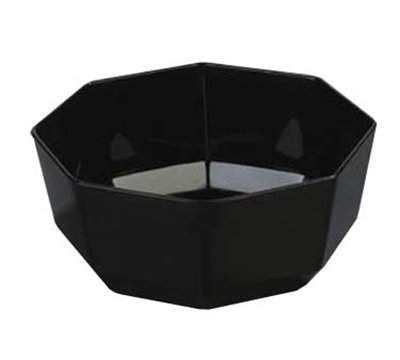 "Carlisle 888803 9-3/8"" Octagon Serving Bowl - Acrylic, Black"