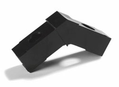 "Carlisle 900103 Sneeze Guard Assembly Block - 1"" Square, 30-Angle, Polycarbonate, Black"