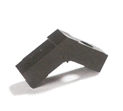 "Carlisle 900131 Sneeze Guard Assembly Block - 1"" Square, 30-Angle, Polycarbonate, Gray"