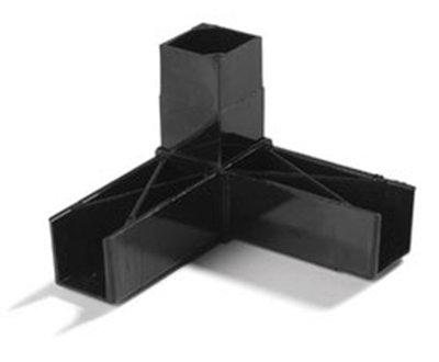 "Carlisle 900203 Sneeze Guard Assembly Block - 1"" Square, 90-Angle, Polyc"