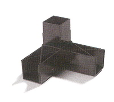 "Carlisle 900331 Sneeze Guard Assembly Block - 1-1/4"" Square, 90-Angle, Gray"