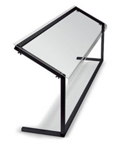 "Carlisle 916003 60"" Portable Sneeze Guard - Free-Standing, Acrylic/Aluminum, Black"