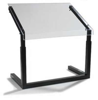 "Carlisle 922403 24"" Portable Sneeze Guard - Free-Standing, Acrylic/Aluminum, Black"