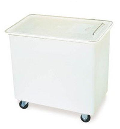 Carlisle BIN2702 27-gal Mobile Ingredient Bin - Polyethylene, Clear/White