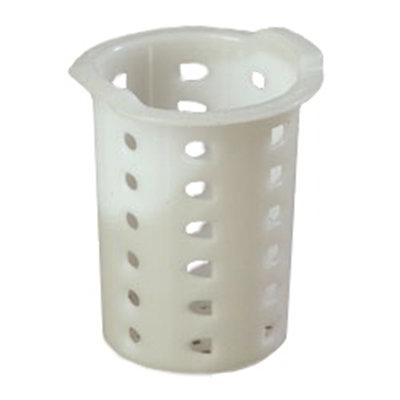 """Carlisle C35P02 3-11/16"""" Flatware Cylinder - Meshed Bottom, Polypropylene, White"""