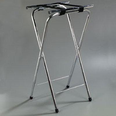 "Carlisle C3625T38 Folding Tray Stand - 19x16x36"" (2)Black Straps, Chrome"