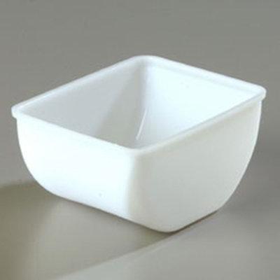 Carlisle CHI402 1-1/2-pt Condiment Insert, Polycarbonate, White
