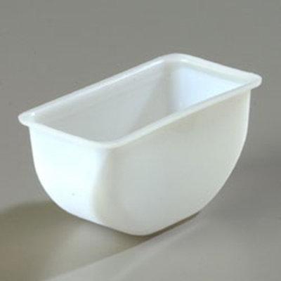 Carlisle CHI602 1-pt Condiment Insert - Polycarbonate, White