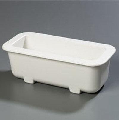 "Carlisle CM104302 Half-Size Long Coldpan - 6"" D, Refrigerant Gel Insulated, White"