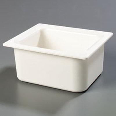 "Carlisle CM110102 Coldmaster Half Size Food Pan - 6""D, White"