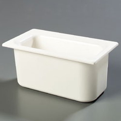 "Carlisle CM110202 Coldmaster 1/3 Size Food Pan - 6""D, White"