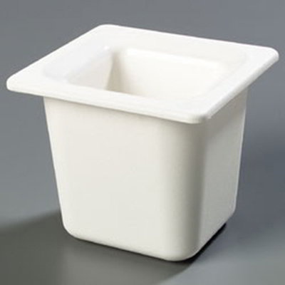 "Carlisle CM110402 Coldmaster 1/6 Size Food Pan - 6""D, White"