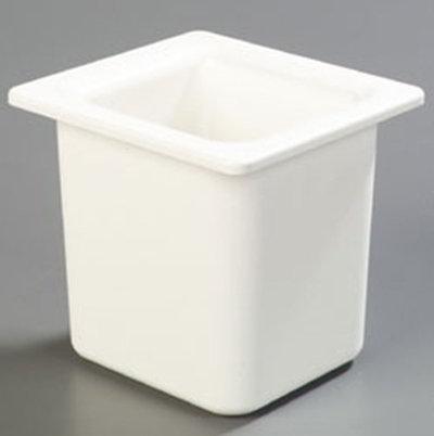 "Carlisle CM110502 Coldmaster 1/6 Size High Capacity Food Pan - 6""D, White"