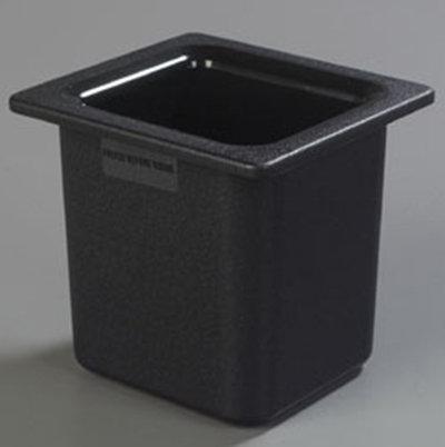 "Carlisle CM110503 Coldmaster 1/6 Size High Capacity Food Pan - 6""D, Black"