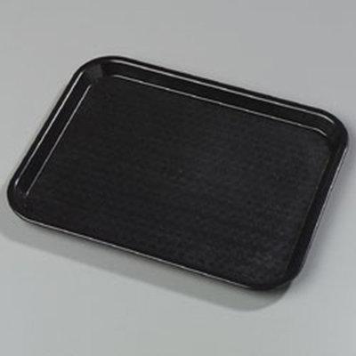 "Carlisle CT1014-8103 Rectangular Cafe Tray - (6/Pk) 13-7/8x10-3/4"" Black"