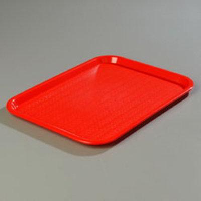 """Carlisle CT1014-8105 Rectangular Cafe Tray - (6/Pk) 13-7/8x10-3/4"""" Red"""