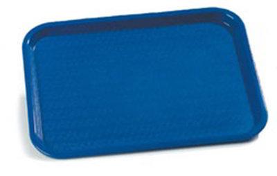 "Carlisle CT1014-8114 Rectangular Cafe Tray - (6/Pk) 13-7/8x10-3/4"" Blue"