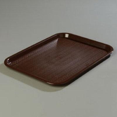 "Carlisle CT1014-8169 Rectangular Cafe Tray - (6/Pk) 13-7/8x10-3/4"" Chocolate"