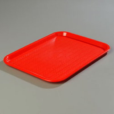 "Carlisle CT1216-81-05 Rectangular Cafe Tray - (6/Pk) 16-5/16x12"" Red"