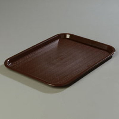 "Carlisle CT1216-81-69 Rectangular Cafe Tray - (6/Pk) 16-5/16x12"" Chocolate"