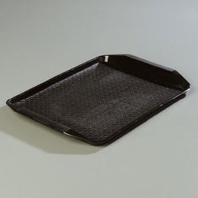 "Carlisle CT121703 Rectangular Cafe Tray - 17x12"" Black"