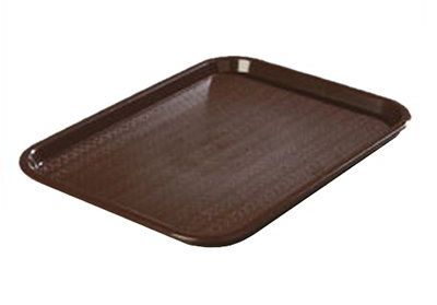 "Carlisle CT14188169 Rectangular Cafe Tray - (6/Pk) 17-7/8x14"" Chocolate"