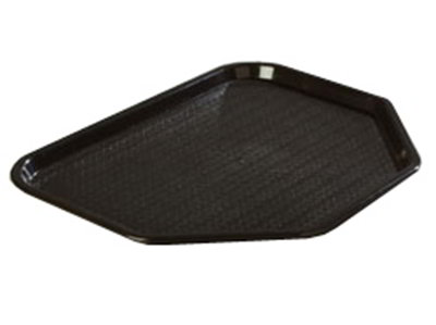"Carlisle CT1713TR03 Trapezoid Cafe Tray - 18x14"" Black"