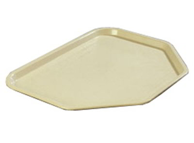 "Carlisle CT1713TR06 Trapezoid Cafe Tray - 18x14"" Beige"