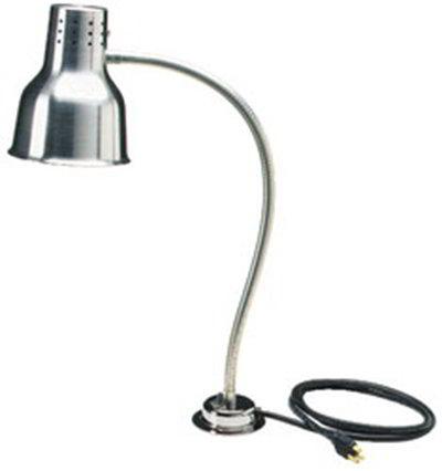 "Carlisle HL818500 24"" Heat Lamp - Counter-Mount, 4"" Base, Aluminum 110-120v"