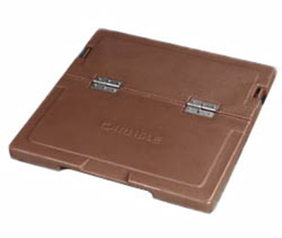 Carlisle IC225LH25 Cateraide Hinged Lid Assembly - Polyethylene, Tan
