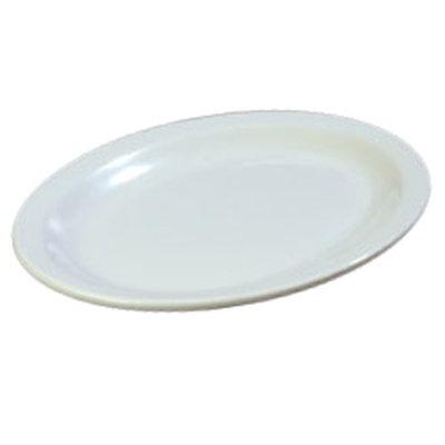 """Carlisle KL12602 Oval Kingline Platter - 13-1/2x9-3/4"""" Melamine, White"""