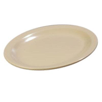 "Carlisle KL12725 Oval Kingline Platter - 12x9"" Melamine, Tan"