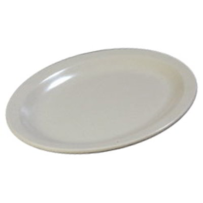 "Carlisle KL12770 Oval Kingline Platter - 12x9"" Melamine, Adobe"