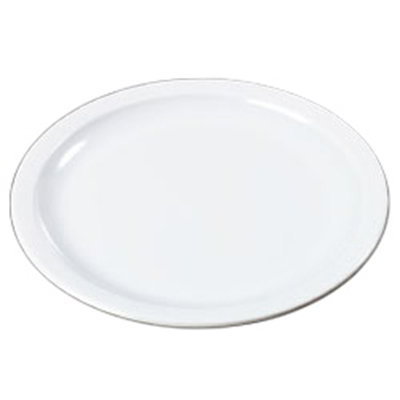 "Carlisle KL20102 7-1/4"" Kingline Sandwich Plate - Melamine, White"
