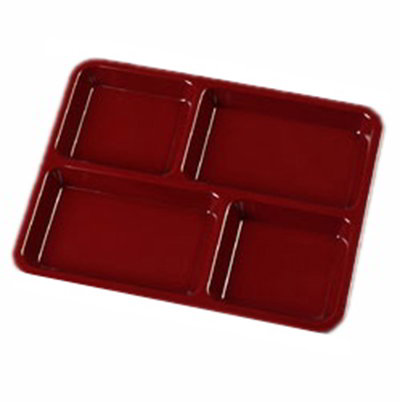 "Carlisle KL44485 (4)Compartment School Tray - 8-1/2x11"" Dark Cranberry"