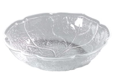 Carlisle LB1007 1-1/2-qt Leaf Bowl - Scallop Edge, Acrylic, Clear