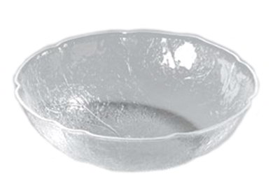 Carlisle LB1607 8-qt Leaf Bowl - Scallop Edge, Acrylic, Clear