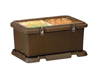 Carlisle PC188N03 Top Load Food Pan Carrier w/ 24-qt Capacity, Polyethylene, Black