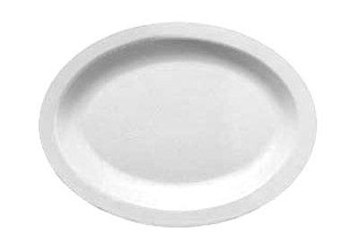 "Carlisle PCD41202 Oval Platter - 12x9"" Polycarbonate, White"