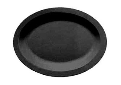 "Carlisle PCD41203 Oval Platter - 12x9"" Polycarbonate, Black"