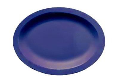 "Carlisle PCD41250 Oval Platter - 12x9"" Polycarbonate, Dark Blue"