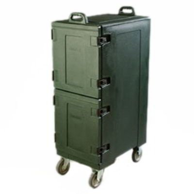 Carlisle PC600N08 Cateraide Food Carrier - Double End Loader, Insulated, Forest Green