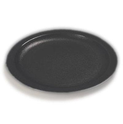 "Carlisle PCD20903 9"" Plate - Polycarbonate, Black"