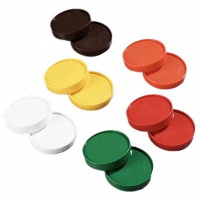 Carlisle PS304AT00 Store 'N Pour Cap Set - Polyethylene, Assorted Colors