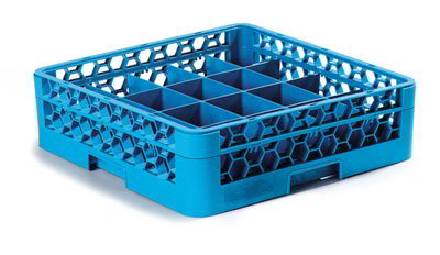 Carlisle RC20114 Full-Size Dishwasher Cup Rack - 20-Compartments, Blue