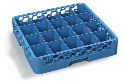 Carlisle RC2014 Full-Size Dishwasher Cup Rack - 20-Compartments, 1-Extender, Blue