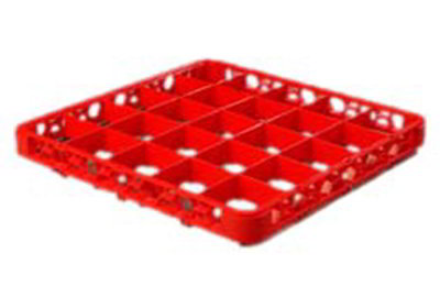 Carlisle RE25C05 Full-Size Color-Coded Glass Rack Extender - 25-Compartment, Red