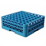 Carlisle RG49214 Full-Size Dishwasher Glass Rack - 49-Compartments, 2-Extenders, Blue