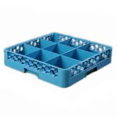 Carlisle RG914 Full-Size Dishwasher Glass Rack - 9-Compartments, Blue